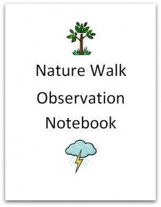 nature walk observation notebook image