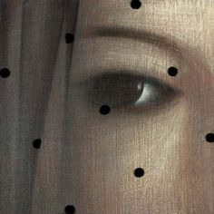 'The Twelfth Veil' (2005) by Serbian painter Vladimir Dunjic (b.1957). Oil & acrylic on wood, 35 x 35 cm. ty same difference. via the artist's site
