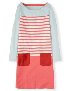 Hotchpotch Jersey Dress- Boden. A fun casual dress that can also go from Winter with leggings and booties to Spring with bare legs and a slip on sneaker.