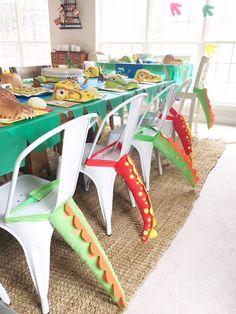 Dino tails from a DIY Dinosaur Birthday Bash on Kara's Party Ideas | KarasPartyIdeas.com (20)