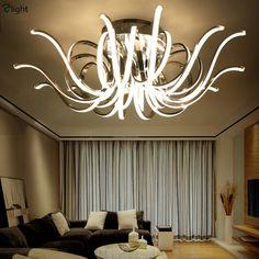 Moderne LED Hanglamp Woonkamer Decor Acryl Dimbare Bloemvorm ...