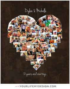 16x20 with 79 photos ❤ CollageDesign by http://yourlifemydesign.com/ #yourlifemydesign #photocollage #heartcollage #gift #giftideas #anniversary #homedecor #home #photography #collage #decor #decoration #walldecor