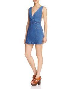 Free People XX Mini Denim Dress | bloomingdales.com