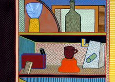 Nathalie Du Pasquier, Life Paint, Fauvism, Art Design, Still Life, Collage, Canvases, Painting Art, Memphis