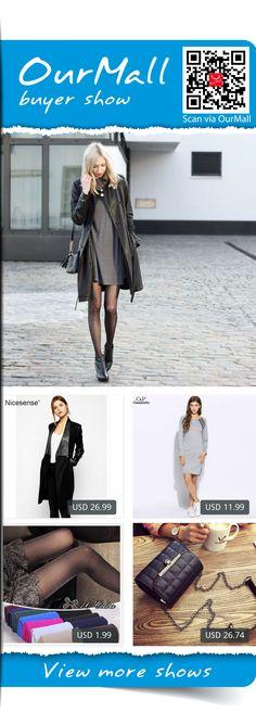 This is Dana's buyer show in OurMall;  1.Faux Leather jacket women coats veste en cuir femme motorcycle jacket jaqueta feminina 2.Dress Spring Autumn Long Sleeve O-Neck Split Zipper Up Dresses Gray Hem Patchwork 3.Shinny Tights for Women High Stretch Elastic Silver Si... please click the picture for detail. http://ourmall.com/?BruiAj  #coat #windbreaker #longcoat #springcoat #girlscoat #coatforwomen #femalecoat #trenchcoat #capecoat #rackcoat #womencoat