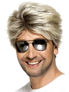 Looking for Street Wig,Blonde? Get it from our wholesale Fancy Dress range today. Visits Smiffy's wholesale for all your Adult Fancy Dress needs today. Disco Fancy Dress, 1980s Fancy Dress, Fancy Dress Wigs, Adult Fancy Dress, Blonde Boys, Blonde Wig, Short Blonde, Short Hair, Street Dance
