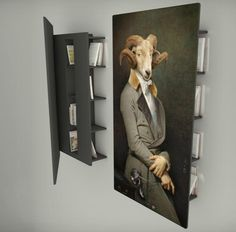 Les Dandys 'bookcase' by Ibride.