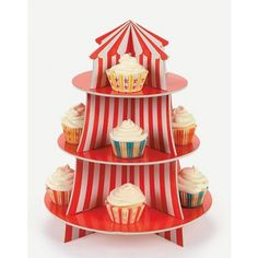 Carnival Big Top Cupcake Holder | 1ct for $8.00