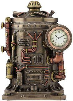 Steampunk Mysterious Container Clock Trinket Box, STU-Home, Gato Steampunk, Steampunk Makeup, Steampunk Drawing, Steampunk Kunst, Steampunk Octopus, Steampunk Crafts, Steampunk Gadgets, Steampunk House, Steampunk Gears