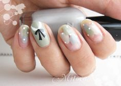 Love this new twist on the peter pan collar nail art manicure.