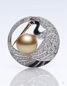 Mikimoto - High Jewelry Brooch #DiamondBrooches