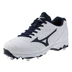 huge selection of 3ae7a 797c4 Mizuno Women s 9-Spike Advanced Sweep 2 Fastpitch Softball Metal Cleat -  White