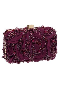 Glamorous Evening Clutch in Marsala / Elie Saab - Accessories - 2014 Fall-Winter Elie Saab, Extreme Metal, Marsala, Handbag Accessories, Fashion Accessories, Beaded Bags, Beautiful Bags, Evening Bags, Fashion Bags