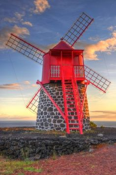Traditional Windmill - Pico Island, Azores, Portugal