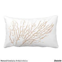 Natural Coral 3 Lumbar Pillow