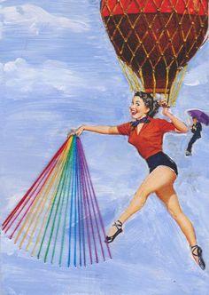 6x8 Digital Print  Rainbow 1 by CoquettishCurios on Etsy, $7.00