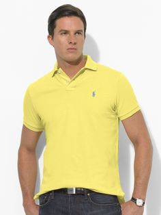 I have this polo in this bright yellow, and I can honestly say that nobody makes a polo like Ralph Lauren.