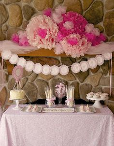 Party mantel: Sweet Little Princess Party