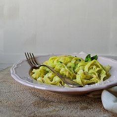 Basil Pesto with Tagliatelle