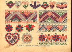 Oh sweet yams. Such beautiful illustrations. (Hungarian embroidery patterns)