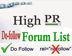 Full list of Hundreds of Do Follow High PR Forums for Backlinks 2017 SEO