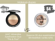 Ideas for makeup dupes mac products Dupe Makeup, Eyeshadow Dupes, Mac Dupes, Skincare Dupes, Beauty Dupes, Makeup Cosmetics, Drugstore Beauty, Skin Makeup, Makeup Brushes