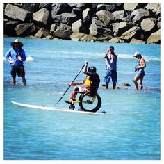 Rainbow Sandals BOP Wheelchair Paddler | Top Stand Up Paddleboarding Photos of the Day. #joyofsport