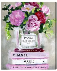 chanel, vogue, canvas art, wall art, frame art