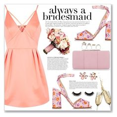 """Always a Bridesmaid"" by myduza-and-koteczka ❤ liked on Polyvore featuring Topshop, Prada, Alexander McQueen, Anja and Marchesa"