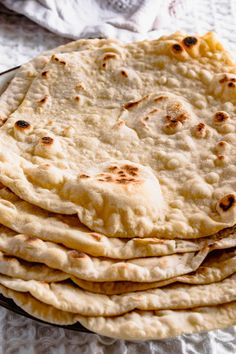 Easy Flatbread Recipe | 3 Ingredients Only | Hint Of Helen Wrap Recipes, Indian Food Recipes, Ethnic Recipes, Easy Recipes, Yorkshire Pudding Batter, Easy Flatbread Recipes, Salt And Pepper Chicken, Make Your Own Pizza, Fresh Bread