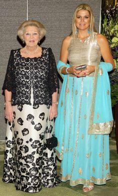 Queen Maxima and Princess Beatrix