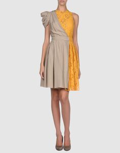 #Lace, gray, #yellow and my favorite cut. My perfect #dress.