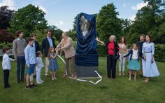 Queen Margrethe and Prince Henrik unveil sculpture for 50th wedding anniversary – Royal Central