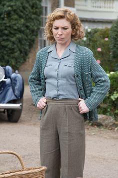 Sam Stewart (Honeysuckle Weeks) in Foyle's War, a TV series about a British detective in WWII.