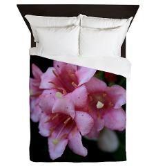 Pink Flower Macro Queen Duvet> Pink Flower Macro> Rosemariesw Design Photo Gifts