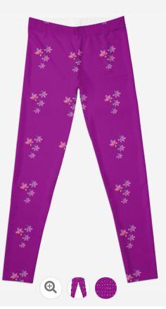 Pretty Pink Leggings by JUSTART on Redbubble  #justart #rb #redbubble #legging #clothing #pink #floral #purple #pretty #girly #woman