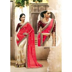Lustrous Georgette Embroidered Festive Wear & Party Wear Saree at just Rs.1160/- on www.vendorvilla.com. Cash on Delivery, Easy Returns, Lowest Price.