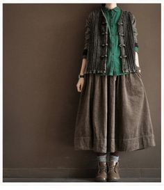 Lovely Coffee  Loose Long Linen Women Clothing   by clothingshow, $65.00