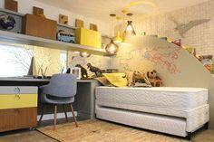 Dormitório Menino Explorador, este é o projeto desenvolvido pela Casulo Arq Design de Daiana Arnold e Roberta Arnold, para a Casaco...