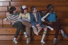 Stranger Things season 1 - Mike, Dustin, Eleven and Lucas ♥