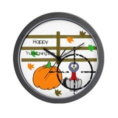 Happy Thanksgiving Day Wall Clock