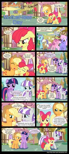 Mother-less Day by MLP-Silver-Quill.deviantart.com on @deviantART