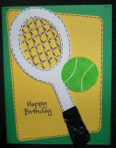 Glora's Crafts: Tennis Birthday Card