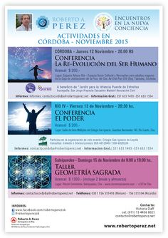 PORTAL TERAPIAS CORDOBA: Roberto Perez en Córdoba - Noviembre 2015
