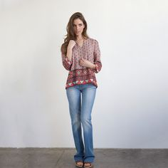 Printed Blouse Red, $65, now featured on Fab.
