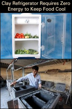 Clay refrigerator requires zero energy to keep food cool Natural Homes, Refrigerator, Grid, Prepping, Zero, Household, Projects To Try, Clay, Houses