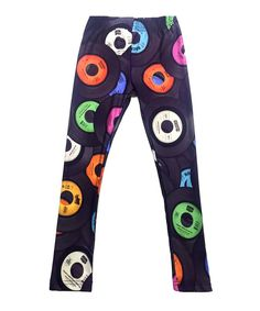 Take a look at this Urban Smalls | Purple Records Leggings - Infant, Toddler & Kids today!