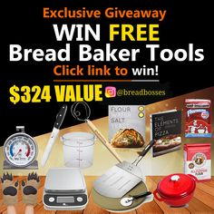 Baker Tools Set Giveaway! (WORLDWIDE SHIPPING)