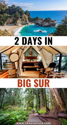 How to plan a trip to Big Sur California | Luxury camping in the Big Sur redwoods | Things to do in Big Sur | Prettiest places in Big Sur | Where to stay in Big Sur | Best hikes in Big Sur | Big Sur travel guide | Best activities in Big Sur | Travel tips for Big Sur | Big Sur Glamping | Glamping California | Big Sur weekend trip | 2 Day Big Sur itinerary | Pacific Coast Highway | California Road Trip | USA road trip | Big Sur Hidden Gems | Carmel #bigsur #california #travel #glamping… Glamping California, California Places To Visit, California Attractions, California Travel Guide, Sunny California, California Living, Travel Usa, Travel Info, Time Travel