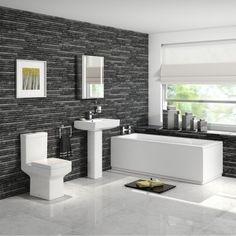 1700mm Belfort Straight Bath Suite